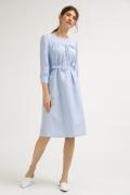 Платье голубого цвета в полоску Emka PL847/selestina