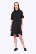 Свободное черное платье рубашечного кроя Emka PL592/agrafena