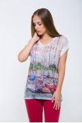 Женская футболка с рисунком Мачты у берега Issi 171115