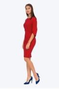 Красное платье с рукавом реглан Emka PL562/gigi