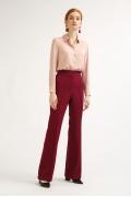 Широкие брюки бордового цвета Emka D140/emeli