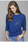 Блузка синего цвета Zaps Vera (осень-зима 17/18)