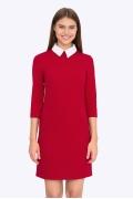 Красное платье с белым воротником Emka PL440/rostislava