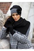 Чёрная женская шапка Kamea Elena