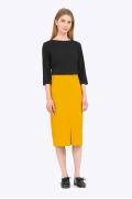Жёлто-горчичная юбка Emka S616/miele