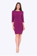 Фиолетовое платье-футляр Emka PL443/magenta