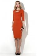 Стильное платье кирпичного цвета Donna Saggia DSP-37-21t