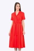 Красное платье-рубашка Emka Fashion PL-567/ariba