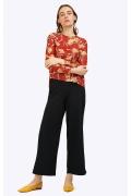 Блузка с цветочным орнаментом Emka B2324/keti