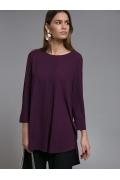 Фиолетовая удлиненная блузка Emka B2510/lanik