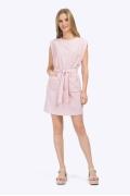 Короткое платье нежного кремового оттенка Emka PL775/icona