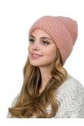 Женская шапка из мохера персикового цвета Landre Доната