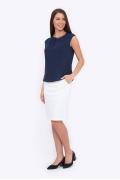 Летняя юбка-карандаш белого цвета Emka 682/alveta