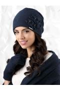 Тёмно-синяя шапка Kamea Andora