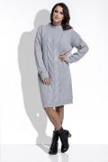 Серое вязанное платье оверсайз Fimfi I215