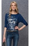 Блузка синего цвета Zaps Arena