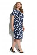 Тёмно-синее платье из хлопка Donna Saggia DSPB-01-8