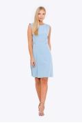 Летнее приталенное платье голубого цвета Emka Pl-453/indira