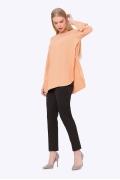 Персиковая блузка с разрезами по бокам Emka b 2255/mirinda