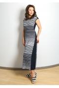 Длинное трикотажное платье полоску TopDesign A7 048
