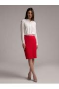 Яркая красная юбка-карандаш Emka S656/curly