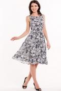 Чёрно-белое платье Remix 7266