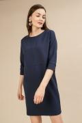 Короткое синее платье прямого кроя Emka PL729/trisa