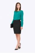 Чёрная офисная юбка Emka Fashion 617-almaza