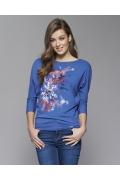 Женская блузка синего цвета Zaps Neo