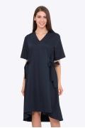 Летнее свободное платье тёмно-синего цвета Emka PL-608/shelbi