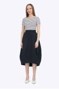 Длинная юбка-баллон тёмно-синего цвета Emka S752/prisa