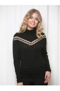 Чёрно-золотой свитер Andovers Z2311