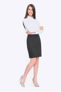 Чёрная юбка для учёбы и офиса Emka 202-50/kapriz