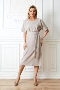 Бежевое платье TopDesign Premium PA20 08