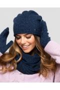 Тёмно-синяя шапка Kamea Anna