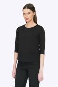 Чёрная блузка прямого кроя Emka b 2253/binazir