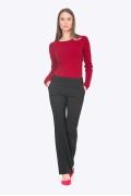 Чёрные женские брюки-клеш Emka D073/premiera