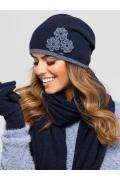 Тёмно-синяя шапка Kamea Valencia