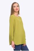 Салатовая блузка с разрезом по бокам Emka b 2255/tsagana