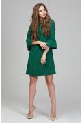 Изумрудное платье с рукавом 3/4 Donna Saggia DSP-289-76