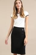 Классическая юбка черного цвета Emka S809/anush
