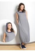 Летнее платье-баллон с капюшоном TopDesign A7 046