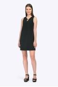 Короткое чёрное платье без рукавов Emka PL781/koma