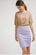 Зауженная юбка сиреневого цвета Emka S718/moonlight