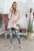 Розовый джемпер с капюшоном M.Hajdan BL1110