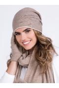 Тёмно-бежевая польская шапка Kamea Rita