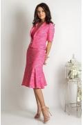 Розовый укороченный жакет TopDesign Premium PA6 13