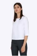 Белая хлопковая блузка Emka B2221/amina