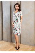 Летнее платье в цветочек TopDesign A7 102