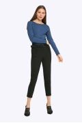 Модные черные женские брюки Emka D074/premiera